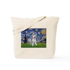 Starry-Siberian pup Tote Bag