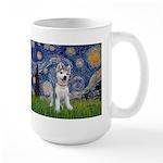 Starry-Siberian pup Large Mug