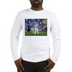 Starry-Siberian pup Long Sleeve T-Shirt