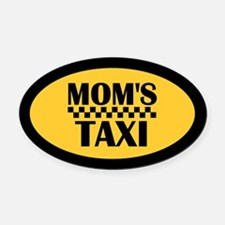Mom's Taxi Oval Car Magnet