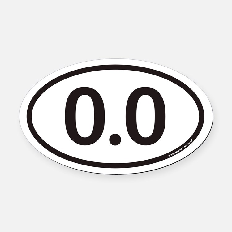 0.0 Euro Oval Car Magnet