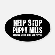 Funny Puppy mills Oval Car Magnet