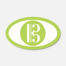 Alto Clef Green Oval Car Magnet