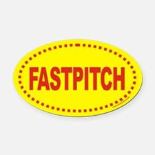 FASTPITCH Softball Euro Oval Car Magnet