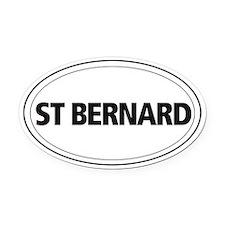 St Bernard Oval Car Magnet