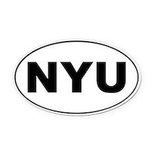 NYU Oval Car Magnet