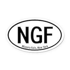 Niagara Falls, New York Oval Car Magnet