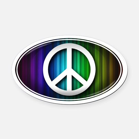 Big Peace RAINBOW - Oval Car Magnet
