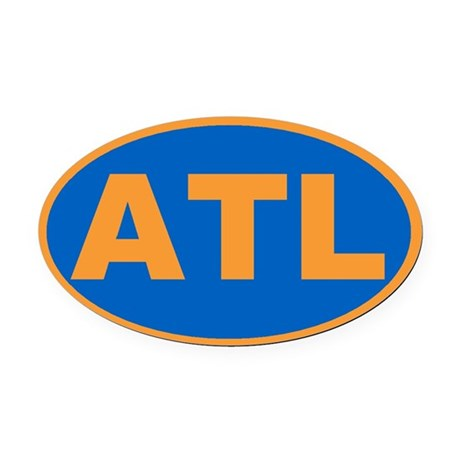 Atlanta, Georgia Oval Car Magnet