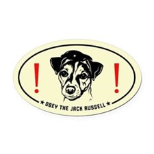 Obey the Jack Russell! Oval Car Magnet