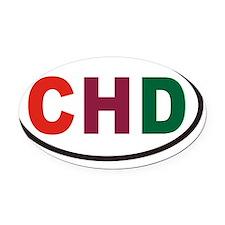 CHD Euro Oval Car Magnet