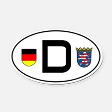 Germany car Oval Car MagnetHessen variant)