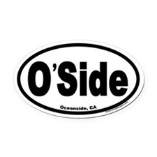 Oceanside, CA O'Side Euro Oval Car Magnet