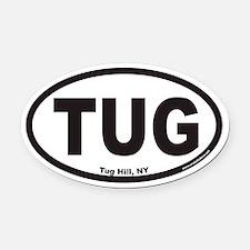 Tug Hill New York TUG Euro Oval Car Magnet