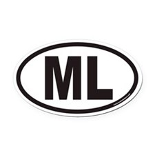 ML Euro Oval Car Magnet