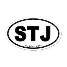 St. John USVI Oval Car Magnet (Un-Branded)