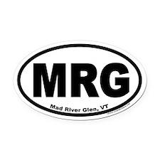 "Mad River Glen, Vermont ""MRG"" Oval Bumper Oval Car"
