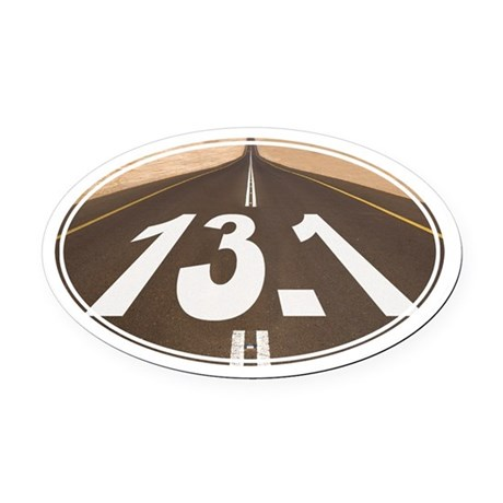 Unique 13.1 Painted Road - Oval Car Magnet