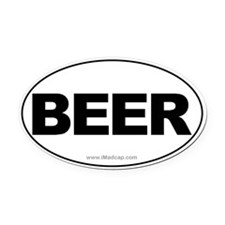 BEER Car Oval Car Magnet