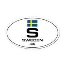 UN-Style Oval Automobile Oval Car Magnet - Sweden