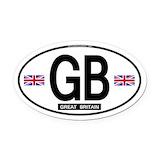 British Oval Car Magnets