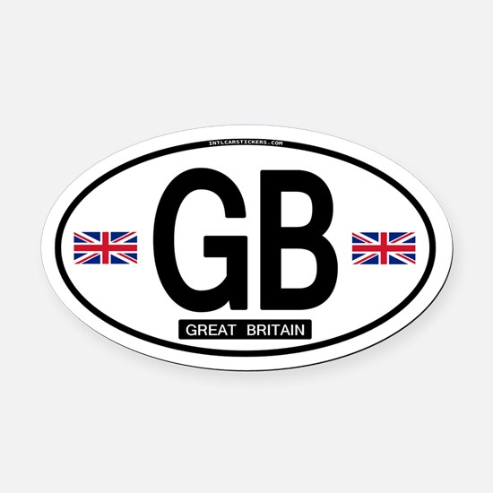 GB Oval Car Magnet (Proper)