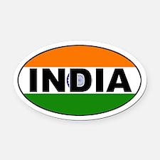 India (Indian) Flag Oval Car Magnet