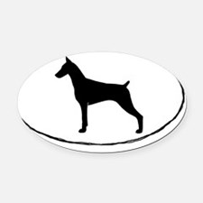 Doberman Pinscher Oval Car Magnet