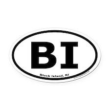 Block Island, RI Oval Euro Oval Car Magnet