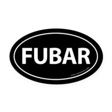 FUBAR Auto Oval Car Magnet -Black (Oval)