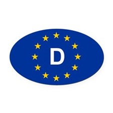EU Germany Oval Car Magnet