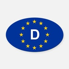 EU Germany Oval Car Magnet