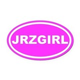 Jersey girl Oval Car Magnets