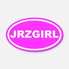JRZ GIRL Jersey Girl Pink Euro Oval Car Magnet
