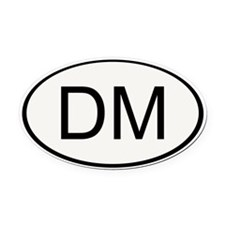 Dungeon Master Oval Car Magnet