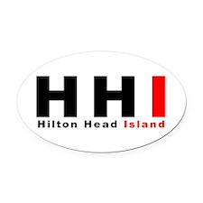 Hilton Head Island Oval Car Magnet