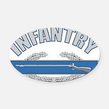 INFANTRY Oval Car Magnet