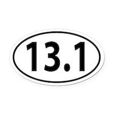 13.1 Half Marathon Oval decal Oval Car Magnet