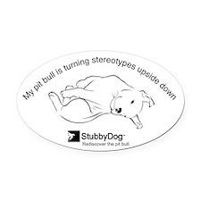 StubbyDog Upside Down Oval Car Magnet