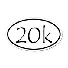 20k Run Oval Car Magnet