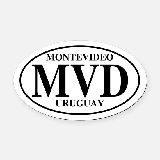 MVD Montevideo Oval Car Magnet