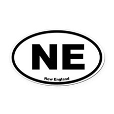 New England Oval Car Magnet