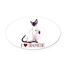 I love Siamese Oval Car Magnet