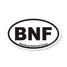 Bankhead National Forest BNF Euro Oval Car Magnet