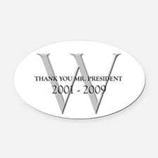 Thank You Mr. President Oval Car Magnet