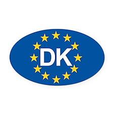 Denmark EU Oval Car Magnet