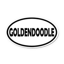 Goldendoodle Oval Car Magnet