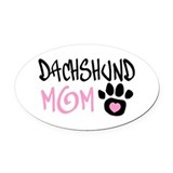 Dachshund Oval Car Magnets