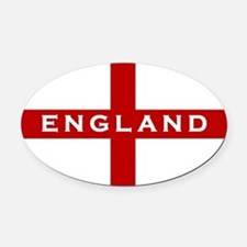 Cute Uk flag Oval Car Magnet