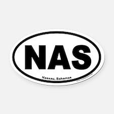 Nassau Bahamas NAS Euro Oval Car Magnet